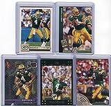 Brett Favre Green Bay Packers Assorted Football Cards 5 Card Lot