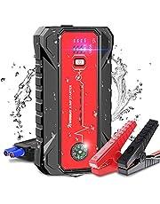 ジャンプスターター エンジンスターター 20000mAh 大容量 1600Aピーク電流 車用エンジンスターター 7Lガソリン車/6Lディーゼル車に対応 緊急起動電源 12V 急速充電 モバイルバッテリー スマートジャンパーケーブル QC3.0 Type-Cポート搭載 LED緊急ライト付き