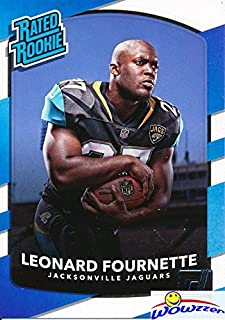 Leonard Fournette 2017 Donruss #319 Rated Rookie ROOKIE Card MINT Condition! Shipped in Ultra Pro Top Loader to Protect It! Jacksonville Jaguars Running Back Superstar Top NFL Draft Pick!  WOWZZER!