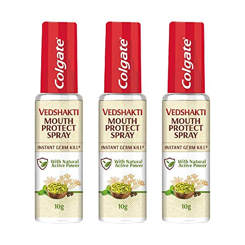 Colgate Vedshakti Mouth Protect Spray - 10gm (Pack of 3)
