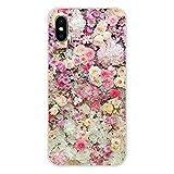 HUAI Cubiertas de Apple iPhone X XR XS 11Pro MAX 4S 5S 5C SE 6S 7 8 Plus iPod Touch 5 6 púrpura de Verano de los Peonies Accesorios Shell (Color : Images 7, Material : For iPod Touch 6)