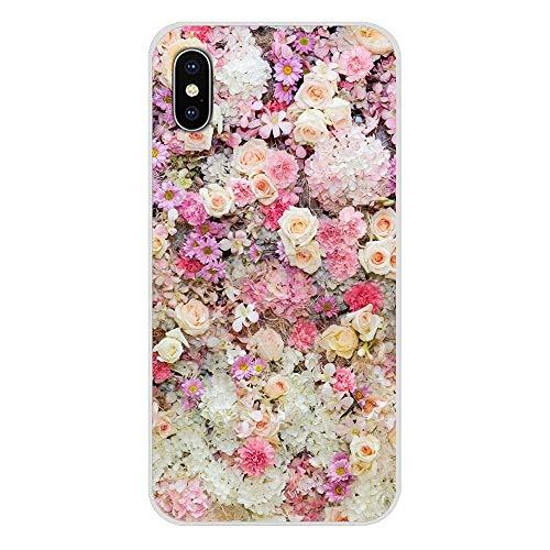 XMCJ Para Apple iPhone X XR XS 11Pro MAX 4S 5S 5C SE 6S 7 8 Plus iPod touch 5 6 púrpura flores peonías de verano accesorios fundas de carcasa (color: imágenes 7, material: para iPhone 6 Plus).