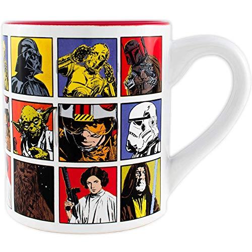 Silver Buffalo Star Wars Episode IV A New Hope Ceramic Coffee Mug for Cappuccino, Latte or Hot Tea, 14 Oz, White