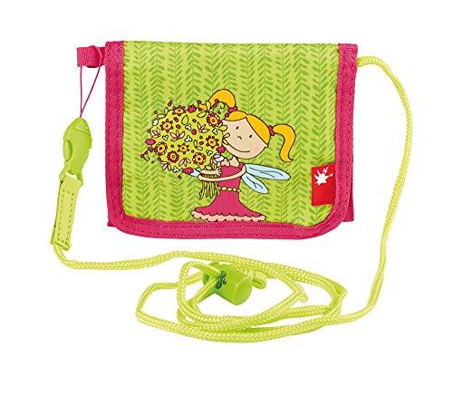 SIGIKID 24458 Brustbeutel Florentine Mädchen Kinder-Portemonnaie empfohlen ab 3 Jahren grün/rosa