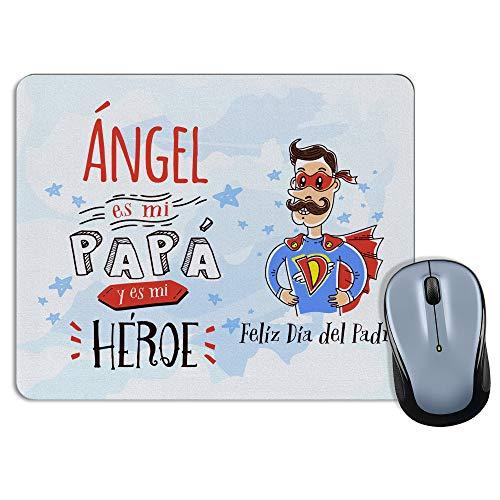 LolaPix Alfombrilla ratón. Regalos Personalizados. Día del Padre. Varios Modelos. Forma Rectangular. Papá Héroe