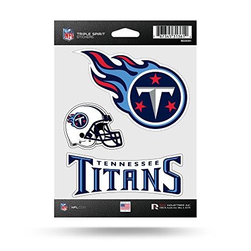 NFL Tennessee Titans Die Cut 3-Piece Triple Spirit Sticker Sheet