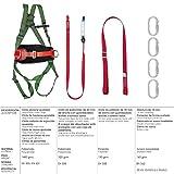 WOLFPACK LINEA PROFESIONAL 15030065 Arnes Anticaidas Kit Seguridad Nº 2 (7 piezas) EN361