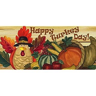 Evergreen Flag & Garden 431144 Happy Turkey Day Sassafras Switch Mat