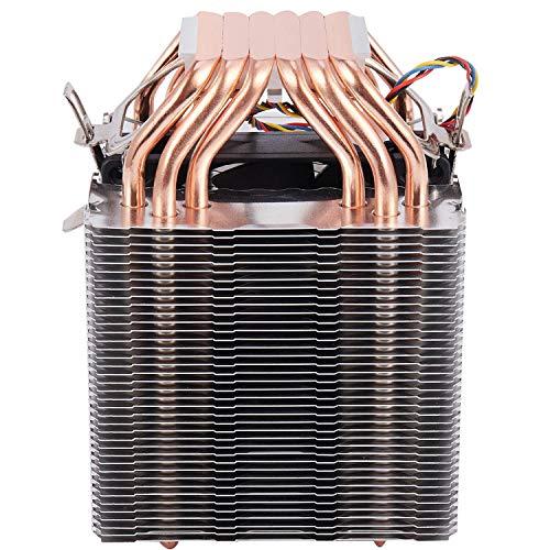 Cobeky 6 tubos de calor 4 cables ventilador único sin luz Cpu ventilador disipador de calor para 775/1150/1155/1156/1366 para Adm All