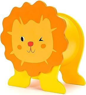 BEILALUNA Hucha Madera Originales para Niños - León Forma Infantiles Moneda Piggy Bank, Niños y Niñas Juguetes de Madera Favoritos T001-Lion