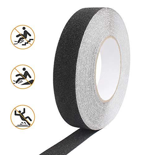 Trappen Antislip Tape Waterdicht Slip Tape Zelfklevend 15M * 2.5CM zwart Antislip Tape Stickers met extreem hoge kleefkracht voor antislip trappen doucheladder treden binnen en buiten