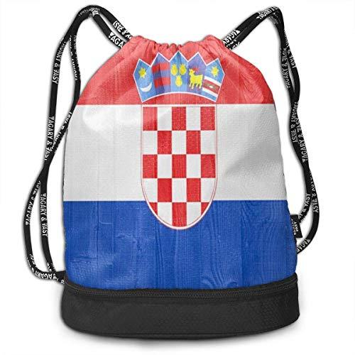 Schule Turnhalle Schwimmen Strahl Tasche Kroatien Flagge Strahl Tasche Basketball, Volleyball, Baseball Umhängetaschen Für Jungen Teenager Jugend - Shopping Sport Yoga