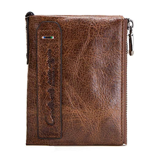 GHYDDC kleine lederen portemonnee voor vrouwen, Rits kaart portemonnee kleine portemonnee, Women'S Credit Card houder Mini Bifold Pocket portemonnee BRON