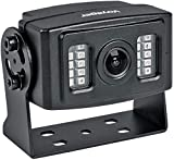 Voyager VCMS20B Rear Color Camera with LED Low-Light Assist, Black, 1/3' CMOS Image Sensor, 600 TV Lines Resolution, 145° Viewing Angle, Built-in Microphone, Electronic Iris Shutter, Waterproof (IP69K