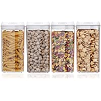 4-Pack 1.2L BPA Free Sealed Storage Container with Easy Lock Lids