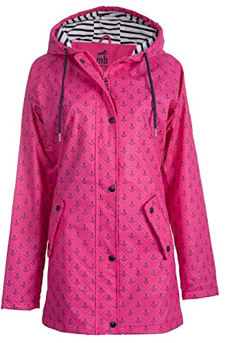 Michael Heinen Damen Regenjacke Regenmantel - Friesennerz Pink 36 - Parka Jacke Wasserdicht Winddicht