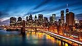 MAIYOUWENG Rompecabezas Adultos Puzzle 1500 Piezas Puzzles De Madera - Paisaje del Puente De Brooklyn De Nueva York Niños Y Adultos