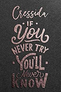 Cressida If You Never Try You Never Know: Motivational To Do Checklist Notebook / Journal Gifts for Daily Task Planner & T...