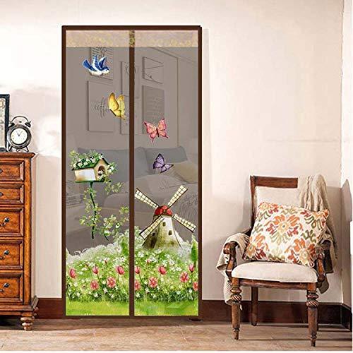 Sommerhaushalt Anti-Moskito-Tür Vorhang Freisprecheinrichtung Magnetgitter Tür Anti-Moskito-Netz Anti-Moskito-Tür Bildschirm Soft Screen Küchenvorhang A3 B100xH210