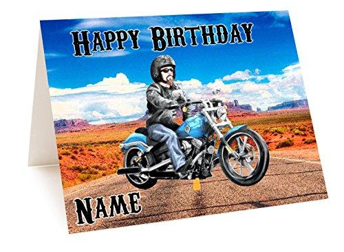 Harley Motorrad Geburtstagskarte–personalisierbar