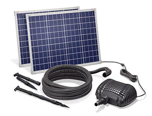 Solar Bachlaufset 100W Solarmodul 3400 l/h Förderleistung 3m Förderhöhe inkl. 5m Schlauch 32mm Bachlaufpumpe esotec pro Komplettset 101968