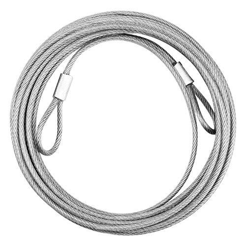 5M Drahtseil Edelstahl Draht Seil mit Schlaufen Durchmesser 3 mm (mit Ausgelagertem Kleber) 40KG Nutzlast für Kabeln, Möbeln, Beleuchtung, Kraftgeräten