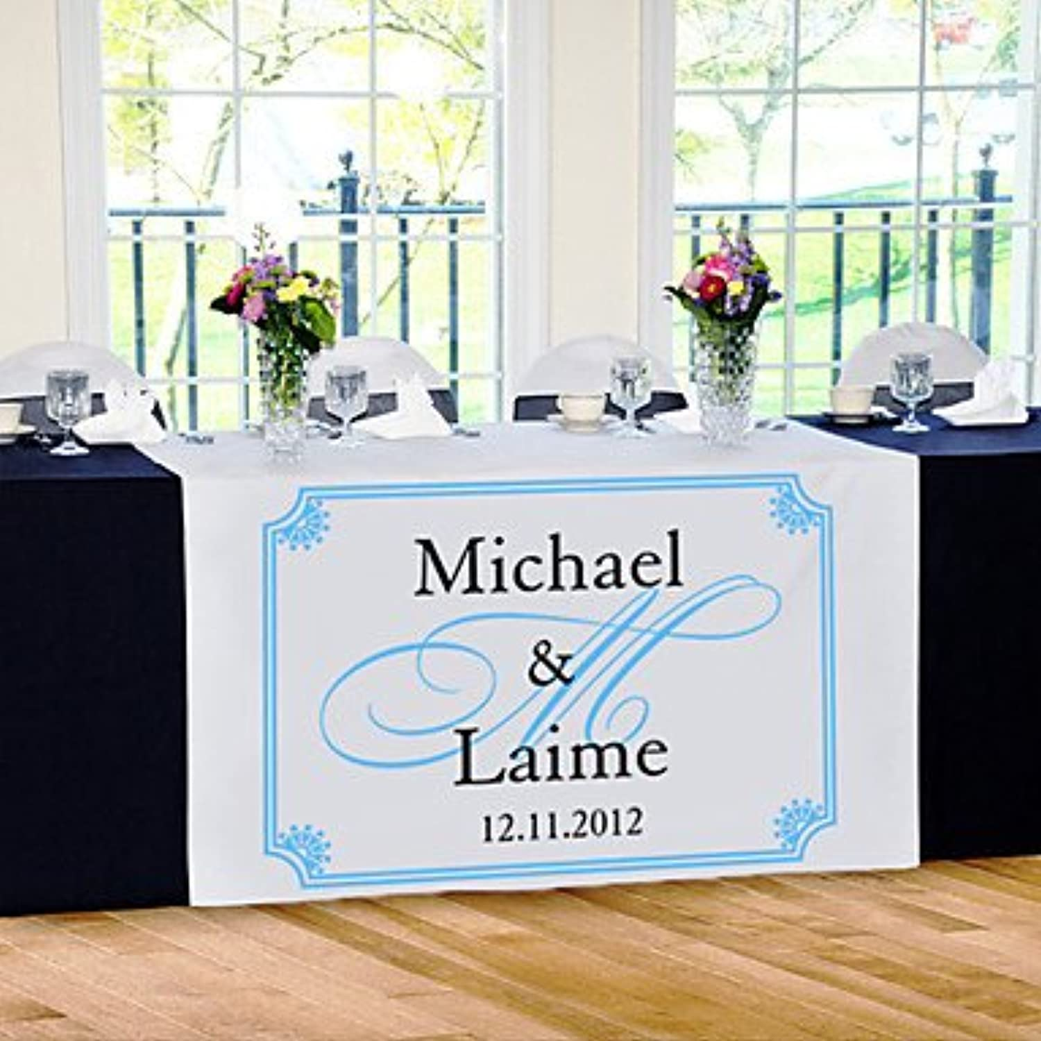 BST Wedding Favors Table Centerpieces Personalize Reception Desk Table Runner - Elegance Table Deocrations
