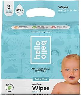 Hello Bello 99% 0 Water Baby Wipes 3PK, 180ct