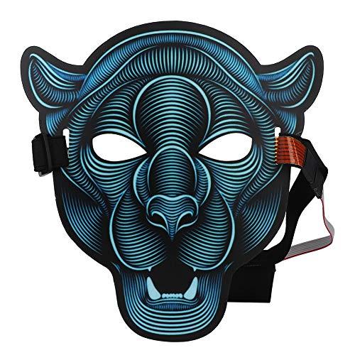 Cosplay Maske Voller Kopf Gruseliges Gesicht Leuchtende Maske Tier Cosplay Kostüm Halloween Maske Für KTV Bar
