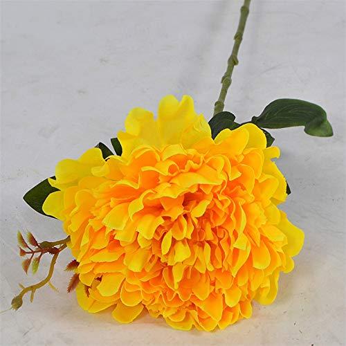 TXXT Künstliche Pfingstrose Seidenblume, Gefälschte Blume, Für Hochzeit Tisch Home Weihnachten Hotel Büro DIY Dekoration Ewige Rosen (Farbe : Yellow)