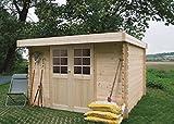 Steiner Shopping Pirum S8349CRO Abri de jardin - Chalet en bois, madrier 28 mm, emprise au sol: 5.04 m², toit monopan