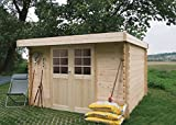 Steiner Shopping Pirum S8349CRO Abri de jardin- Chalet en bois, madrier 28mm, emprise au sol: 5.04m², toit...