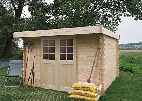 Steiner Shopping Pirum S8349CRO Abri de jardin- Chalet en bois, madrier 28mm, emprise au sol:...