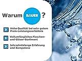Flaschenbauer - 24 Leere Glasflaschen 250 ml weiß mit Schraubverschluss TO43 0,25l - Zum selbst befüllen von Milchflaschen, Saftflaschen, Smoothie Flaschen (hellgrün) - 7