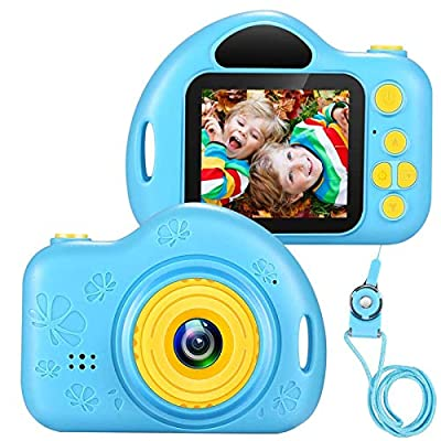 voltenick Kids Camera Toys for 3-10 Year Old Girls, Kids Digital Cameras 1080P 2 inch Toddler Video Camera Gift for Age 3 4 5 6 7 8 9 Years Old Girls Best Birthday Gifts with 32G SD Card by voltenick