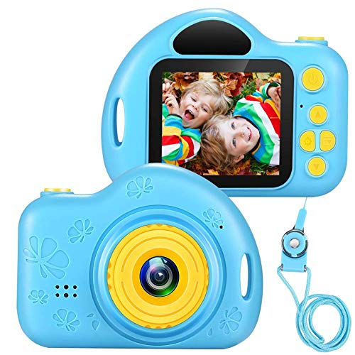 Voltenick Kids Camera Toys for 3-10 Year Old Girls, Kids Digital Cameras 1080P 2 inch Toddler Video Camera Gift for Age 3 4 5 6 7 8 9 Years Old Girls Best Birthday Gifts with 32G SD Card (Blue)