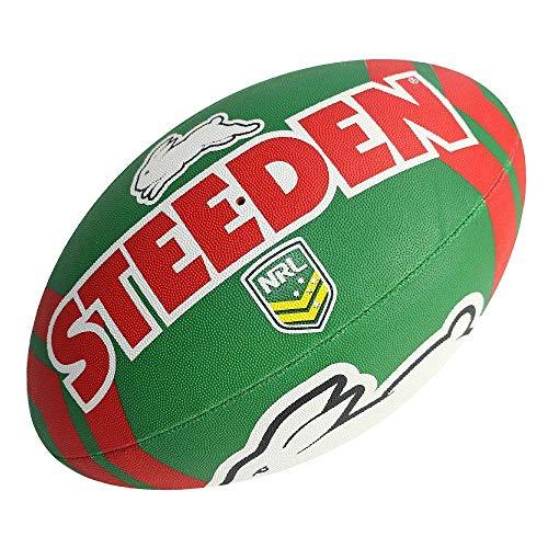 Steeden NRL South Sydney Rabbitohs Supporter 2020 Rugby League Ball grün/rot, violett, 5