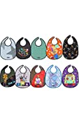 Tris&Ton Pack Baberos Bandana Babero impermeable sin mangas para bebe niño...
