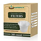 Disposable Coffee Filters 300 Counts Coffee Filter Paper for Keurig Brewers Single Serve 1.0 and 2.0 Use with All Brands K Cup Filter