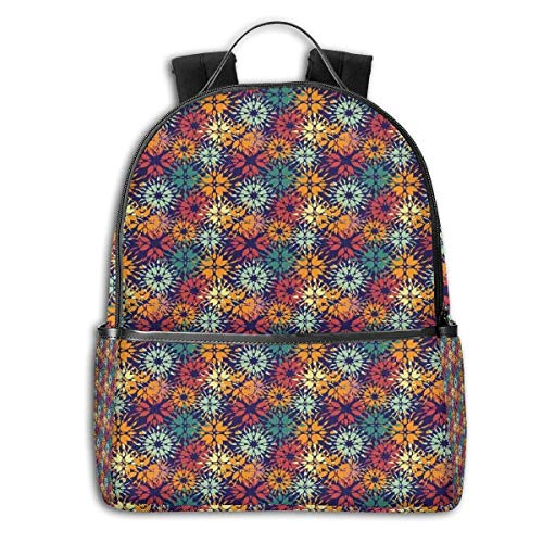 Mochilas Tipo Casual, Mochilas de Marcha, College Backpacks for Women Girls,Silhouettes of Butterflies Freedom Icons of The Nature Festival Artwork,Casual Hiking Travel Daypack