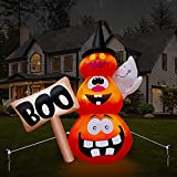 Yostyle 6FT Halloween Inflatables Stacked Pumpkins with...
