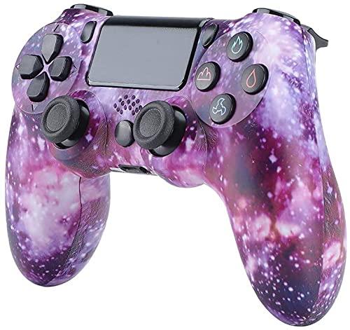 QLOVE PS4 Gamecontroller, Controller mit sechsachsigem Doppelvibrationsschock und Audio, Kompatibel mit Playstation 4 /PS4 Pro/PS4 Slim,Purple Sky