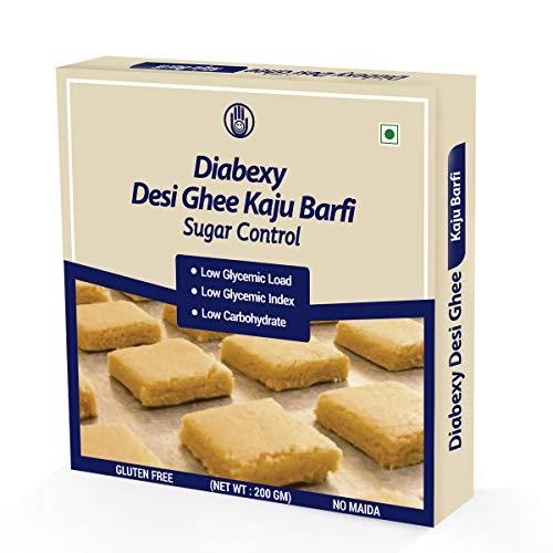 diabexy Desi Ghee Sugar Free Kaju Barfi for Diabetics- 200g