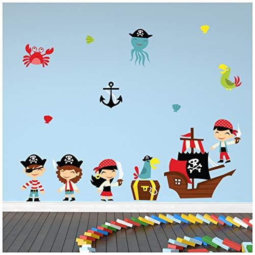 Vinilo adhesivo de piratas para niños.