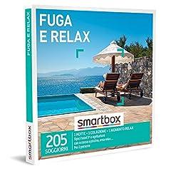Idea Regalo - Smartbox - Fuga e Relax Cofanetto Regalo Coppia, 1 Notte con Colazione e 1 Momento Relax per 2 Persone, Idee Regalo Originale