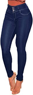 Women Skinny Denim Stretch Fitted Trousers Jeans Pencil Pants