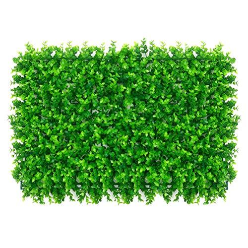 Emeili Cerca de Plantas Artificiales Realistas 40x60 cm, Decoración para Pared, Valla, Hogar, Jardín, Telón de Fondo, Patio (Eucalipto)