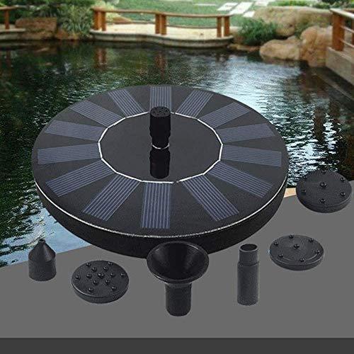 CPAZT Agua Flotante accionada Solar de la Bomba de la Fuente con Diferentes Cabezas de pulverización sin escobillas del baño del pájaro de la Bomba de la Fuente Kit Jardín Suministros YCLIN