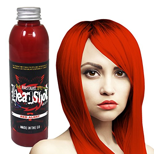 Rote Haarfarbe Headshot Red Alert, Semi-permanente Haartönung 150 ml