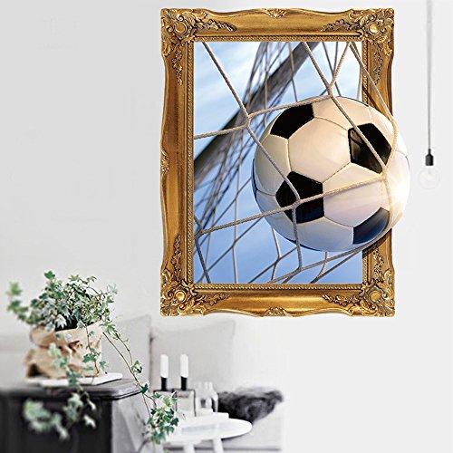 45 x 60 cm 3D balón de fútbol pared dormitorio fondo pared adhesivo decorativo para habitación infantil